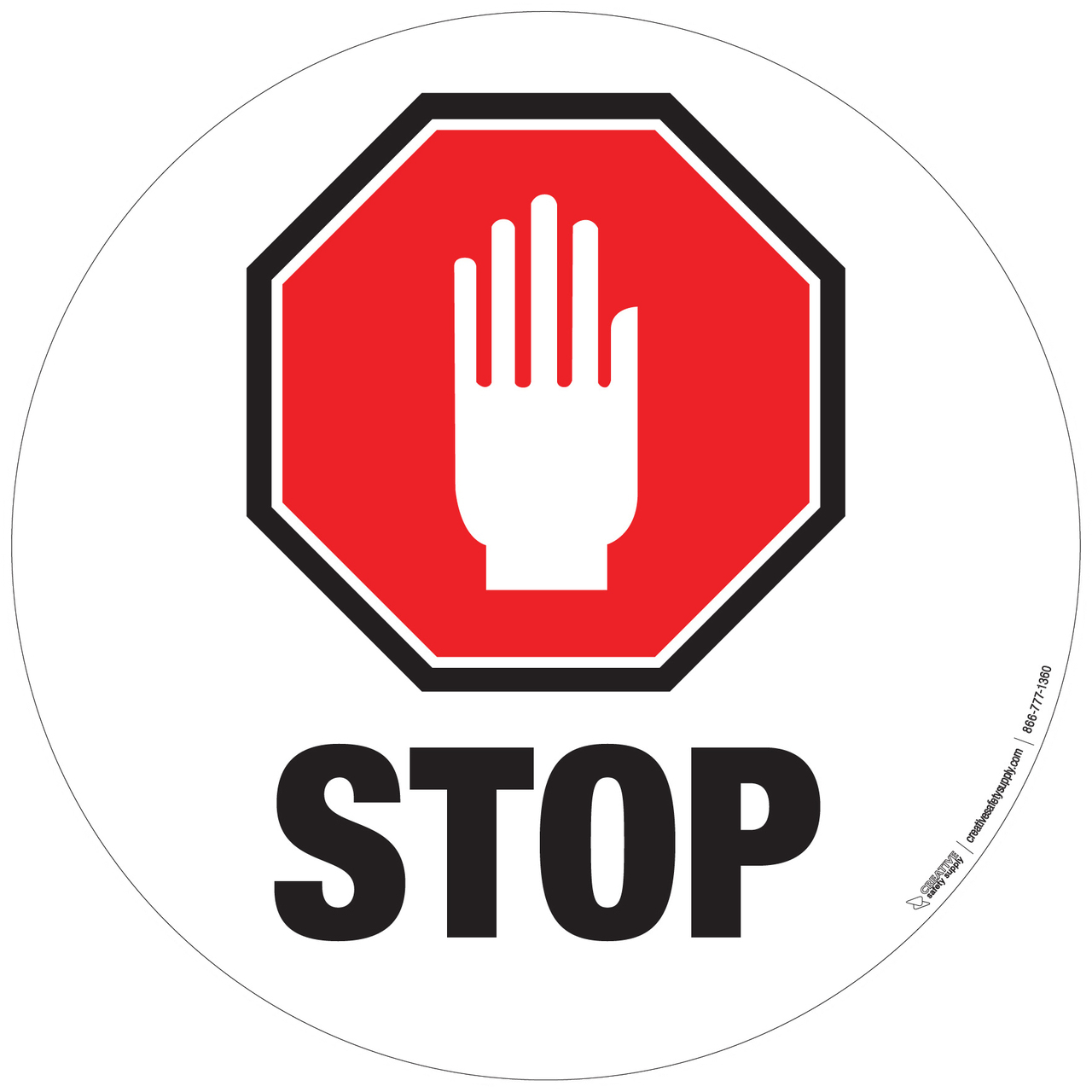 Floor Sign Stop Sign With Hand Phs Safety