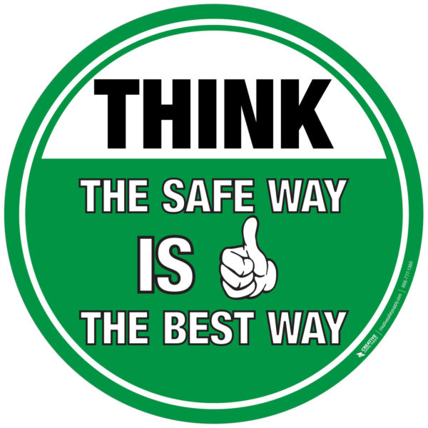 Floor Sign – THINK – The Safe Way is the Best Way