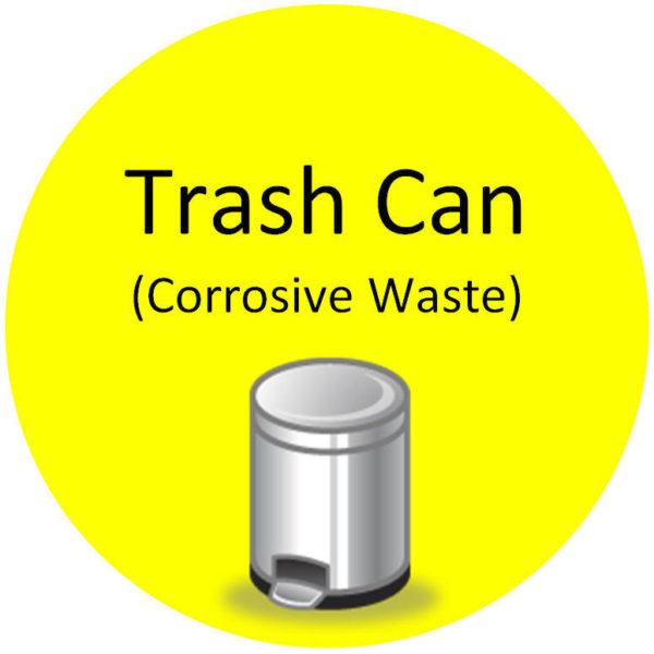 Floor Sign – Trash Can (Corrosive Waste)