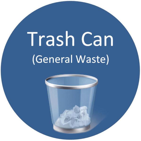 Floor Sign – Trash Can (General Waste)