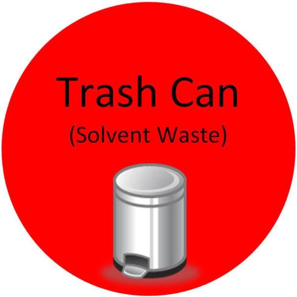 Floor Sign – Trash Can (Solvent Waste)