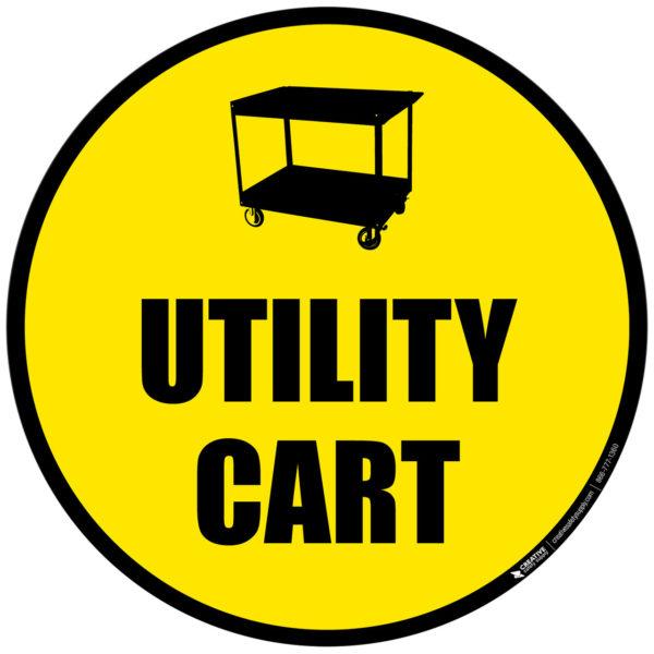 Floor Sign – Utility Cart