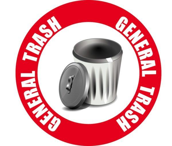 General Trash Sign