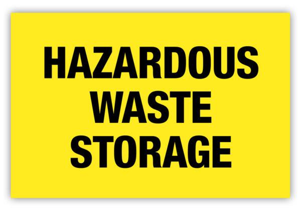 Hazardous Waste Storage Label