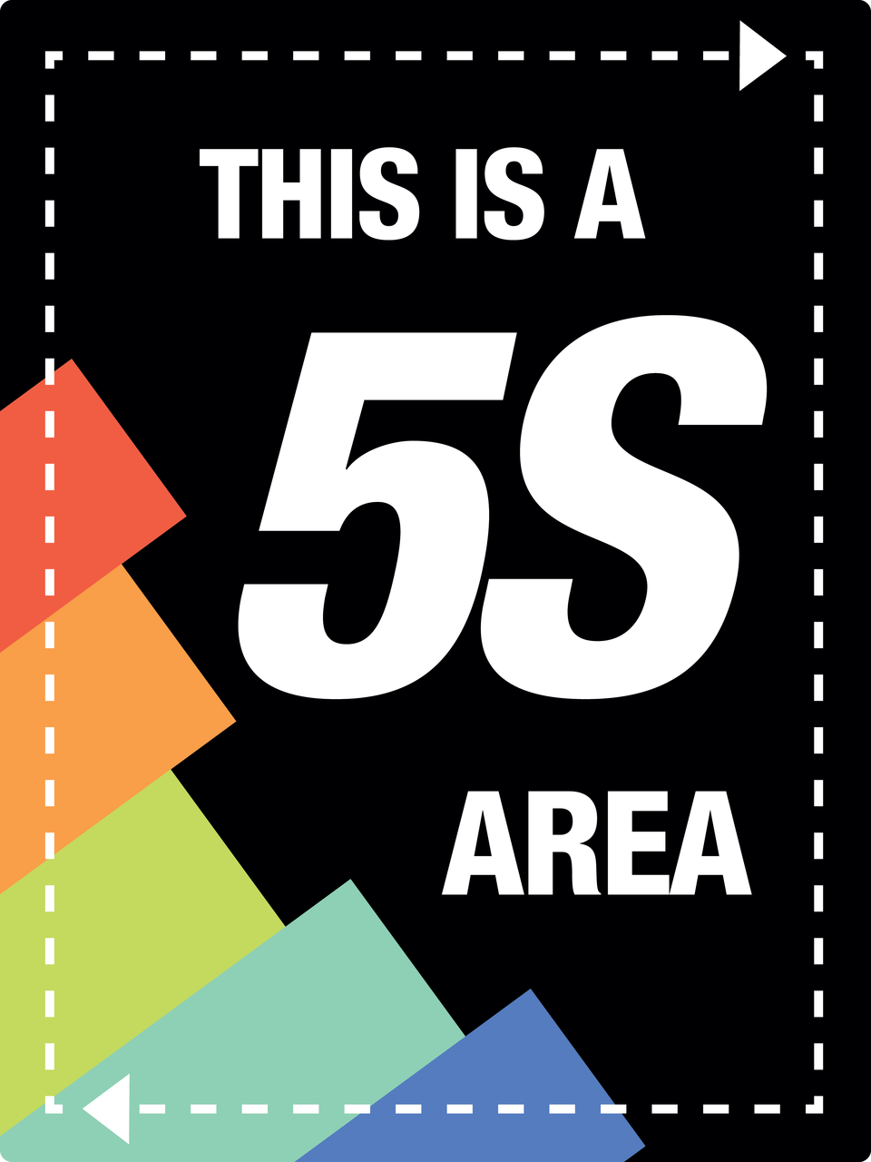 Large 5s Area Sign Phs Safety