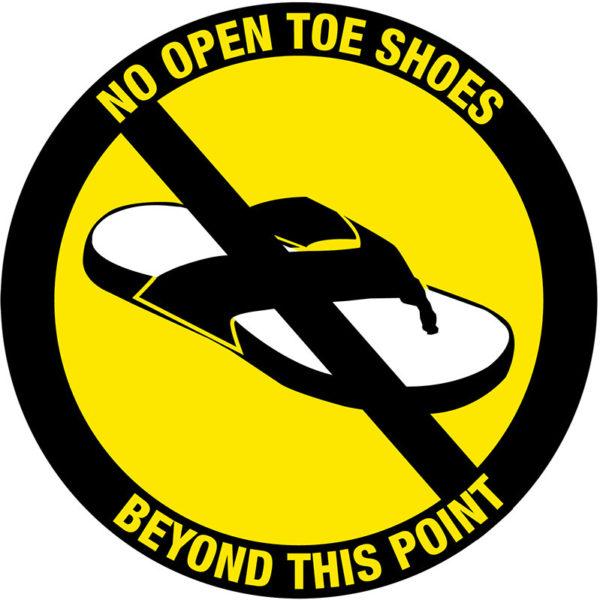 No Open Toe Shoes