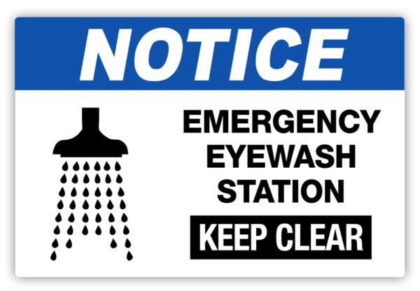Notice – Emergency Eyewash Label
