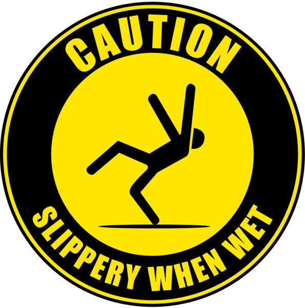 Slippery When Wet B (Floor Sign)