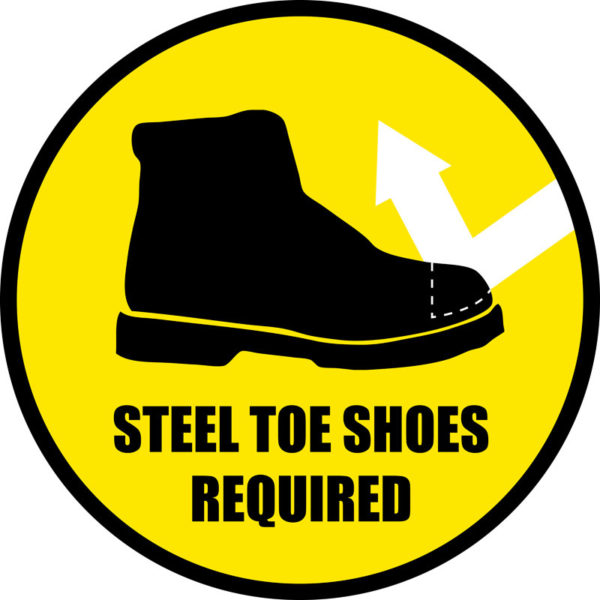 Steel Toe Shoes Required