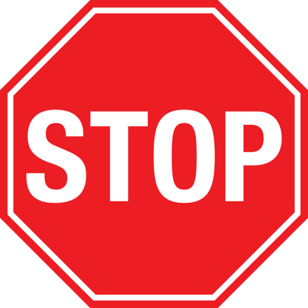 Stop Sign – Basic Floor Sign