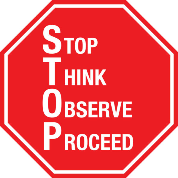 Stop Sign – S.T.O.P.