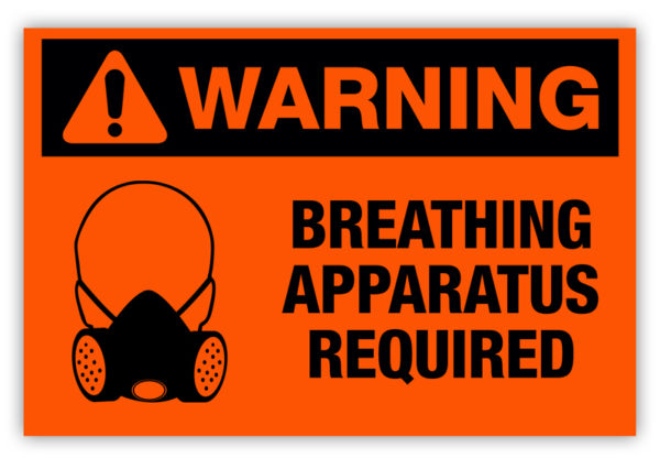 Warning – Breathing Apparatus Required Label