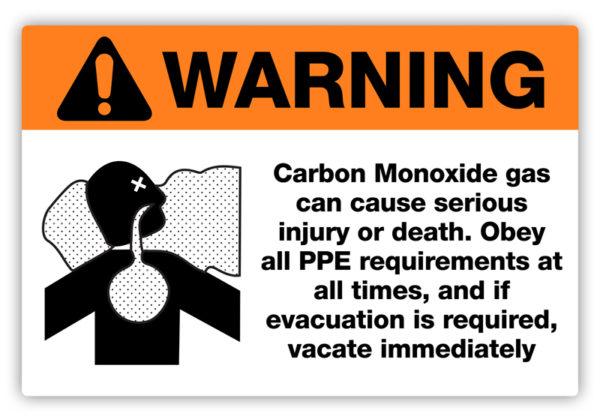 Warning – Carbon Monoxide Label