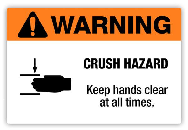 Warning – Crush Hazard Label