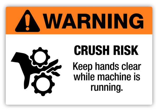 Warning – Crush Risk Label