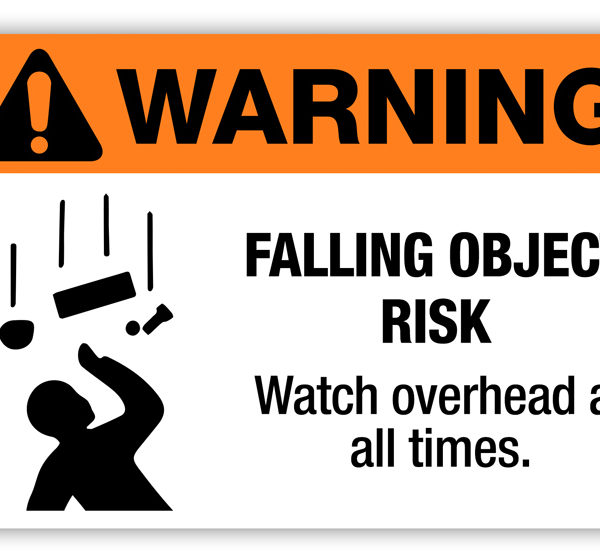 Warning Falling Object Risk Label Phs Safety