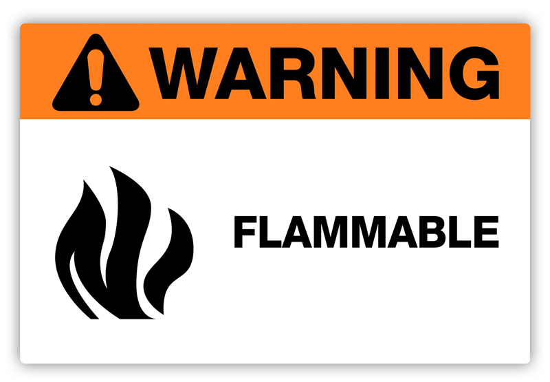 Warning Flammable Label Phs Safety