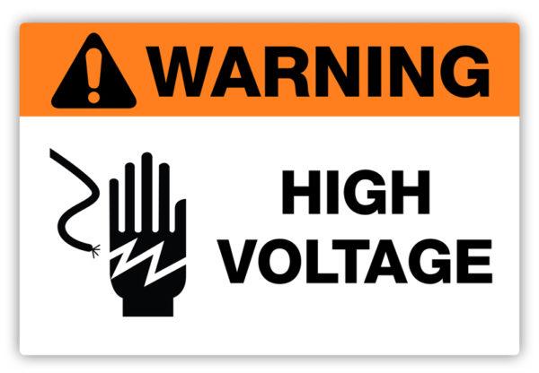 Warning – High Voltage Label
