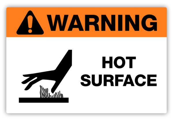Warning – Hot Surface Label
