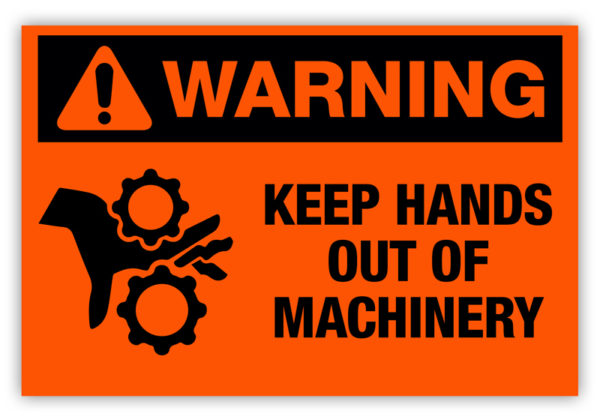 Warning – Keep Hands Out Label