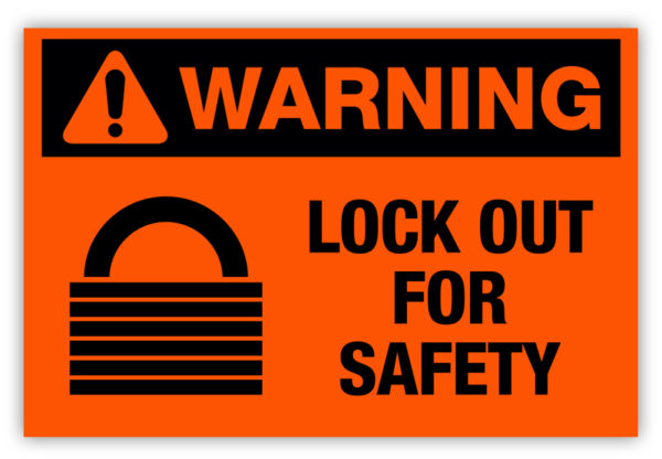 Warning – Lock Out Label