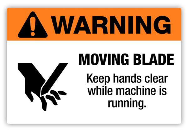 Warning – Moving Blade Label