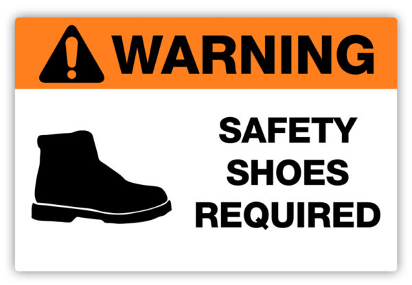 Warning – Safety Shoes Required Label