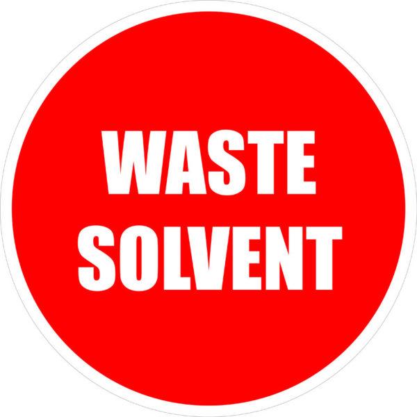 Waste Solvent Sign